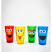 Sesame Street Pint Glass Set 4 Pk