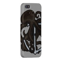 Black Octopus Over Anchor iPhone 5 Case from Zazzle.com