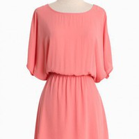 Enchante Peach Dress