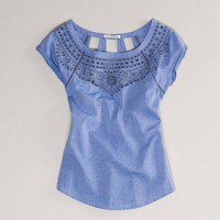 AE Eyelet Blouse | American Eagle Outfitters