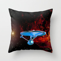 Enterprise NCC 1701A Throw Pillow by JT Digital Art  | Society6