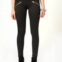 Sandy High Waisted Zip Detail Treggings