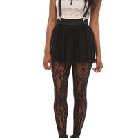 Abbey Dawn Black Suspender Skirt - 743242
