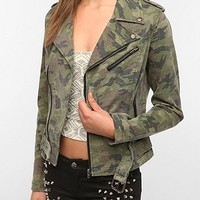Tripp NYC Washed Camo Moto Jacket
