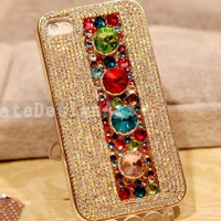 iphone 5 case, iphone 4s cases iphone cover skin bling bling iphone 4 cases - colorful diamond iphone 4 case