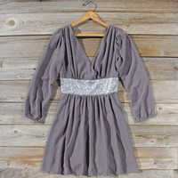 Twinkle & Chiffon Party Dress in Gray, Sweet Women's Party Dresses