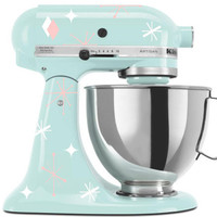 "Stand Mixer Decal ""Retro Stars"" - Vinyl Sticker for Kitchenaid Stand Mixer Appliance"