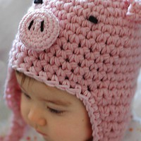 Piggy Hat Newborn and 03M by beliz82 on Etsy