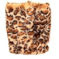 Fluffy Wuffies.outdoor cheetah/leopard print boots (booties)