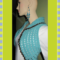 Blue Bolero Funky & Colorful Handcrafted 100 by ArtisticFunk