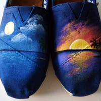 Custom Order reserved for Miguel-Sunset TOMS Painting Only(Toms not included)