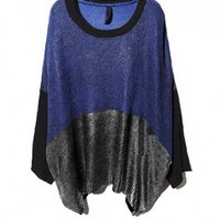 Metallic Coated Sweater in Color Block