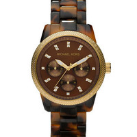 Michael Kors Tortoise Jet Set Watch - Michael Kors
