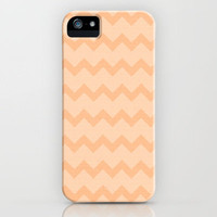 nectarine chevron iPhone Case by Sylvia Cook Photography | Society6
