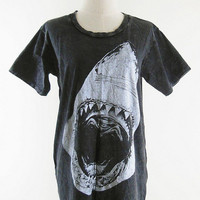 Shark Shirt -- Shark T-Shirt Shark Week Bleach Shirt Black Tee Shirt Women T-Shirt Men T-Shirt Unisex T-Shirt Short Sleeveless Size M