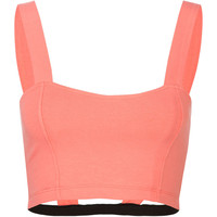 Full Tilt Ladder Back Bandeau Coral  In Sizes