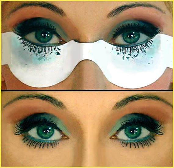 Butterfly Eyelash Guard Eye Makeup Tool Mascara Shields Skin Eyelash Protector Hand-Free-Use No Adhesives Cosmetic Accessory 24ea