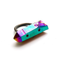 titanium quartz ring [crystal ring] / Stone &amp; Honey