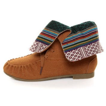Diva Lounge Starcy 40 Chestnut Suede Convertible Moccasin Boots - $33.00