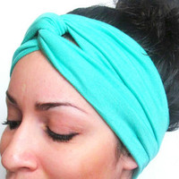Mint Turban stretch head band