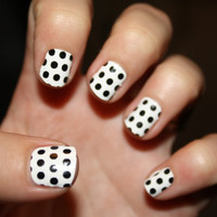 Black Polka Dot Vinyl Nail Decals