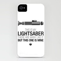 This is my Lightsaber (Luke Version) iPhone Case by 6amcrisis | Society6
