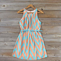 Peaches &amp; Clover Chevron Dress, Sweet Women&#x27;s Bohemian Clothing