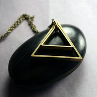 Triangle Necklace - Geometric Triangle Pendant Necklace