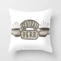 Friends- Central Perk Throw Pillow by Elyse Notarianni | Society6