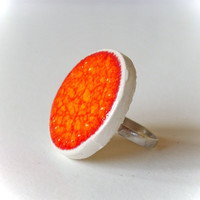 Orange Ring, Fashion Jewelry Ceramic | Luulla