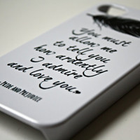 Pride & Prejudice iPhone Case - Quote iPhone Case 4/ 4S / 5 - Literary iPhone Case - Word Art  - Typography iPhone Case