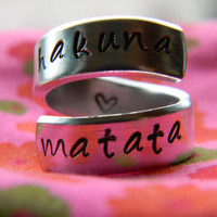 Pre order The original Hakuna Matata twist aluminum ring Version III