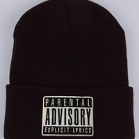 Parental Advisory Beanie from RAW****