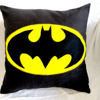 Batman Cushions by Gorgeoustuff on Etsy