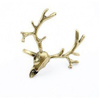 Cool Adjustable Gold Megaloceros Cocktail Ring wholesale by the dozen from fashion rings wholesale supplier yiwuproducts.