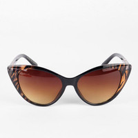 Catty Sunglasses in Brown Tiger :: tobi