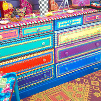 Hand Painted Furniture Dresser With Ten Drawers by LisaFrick