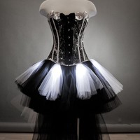 Custom Size Light up burlesque Sequin Corset prom dress