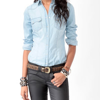 Snap Button Denim Shirt