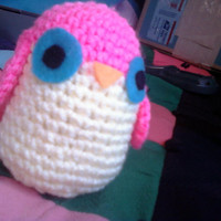 Amigurumi Pink Owl by OwlPudding on Etsy