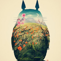 Tonari no Totoro Art Print | Print Shop