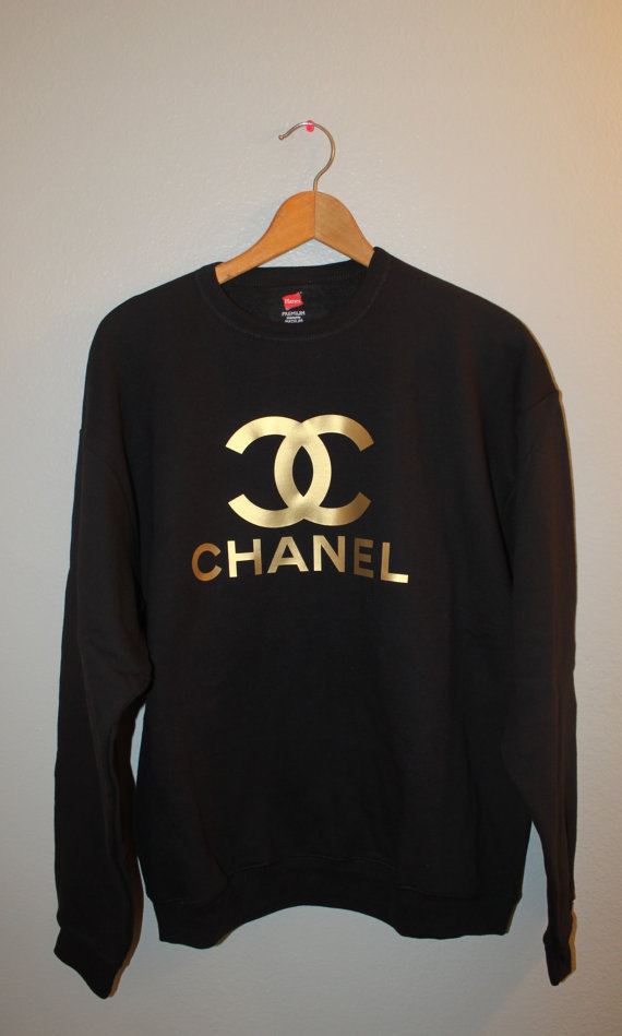 black and gold chanel sweater on the hunt. Black Bedroom Furniture Sets. Home Design Ideas