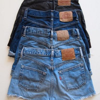 Levi's Plain Cutoff Denim Jean Shorts - Any Size