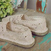 Sweet Lace Espadrilles, Sweet Country Inspired Shoes