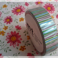 MT tape, stripe green & blue washi tape