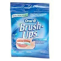 Oral B Brush-ups, Textured Teeth Wipes, 12 wipes