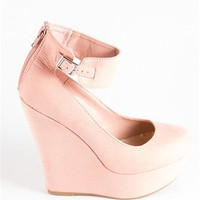High Wedge Heels with Thick Ankleband - Blush at Lucky 21 Lucky 21