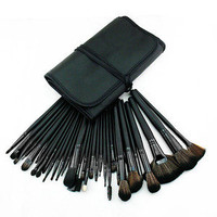 New 32 PC Pro Cosmetic Makeup Brush Set Kit With Case high quality