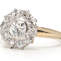 Edwardian Diamond Cluster Ring - The Three Graces