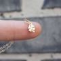 Clover Necklace - Gold Shamrock Necklace . Four Leaf Clover Pendant . St Patricks Day Jewelry .  24K Gold-Dipped Sterling Silver . Gift